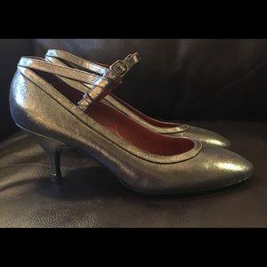 Lanvin Metallic Pewter Mary Jane Shoe